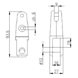JONCTION EMERILLON KONG : Sa conception brevetée permet d'éviter la tension sur la vis et garantit une résistance exceptionnelle