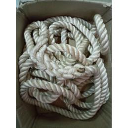 Occasion - Cordage de 9.5m polyamide 20mm blanc 2 boucles